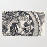 dia de los muertos Area & Throw Rugs featuring Dia de Los Muertos by afzucatti