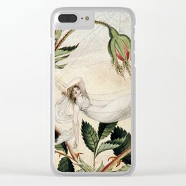 """""""A Fairy Resting in a Hammock"""" by Amelia Jane Murray Clear iPhone Case"""