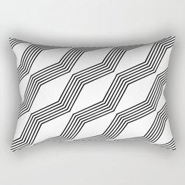 Bendy Lines Rectangular Pillow