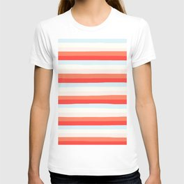 lumpy or bumpy lines abstract and colorful - QAB266 T-shirt