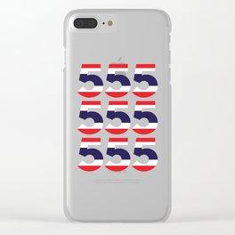 555  Thai flag Clear iPhone Case
