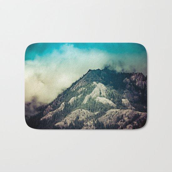 Cloudy Mountain Ridge Bath Mat