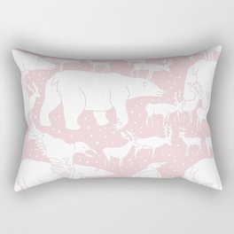 Polar gathering (powder rose) Rectangular Pillow