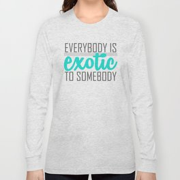 Exotic-blue Long Sleeve T-shirt