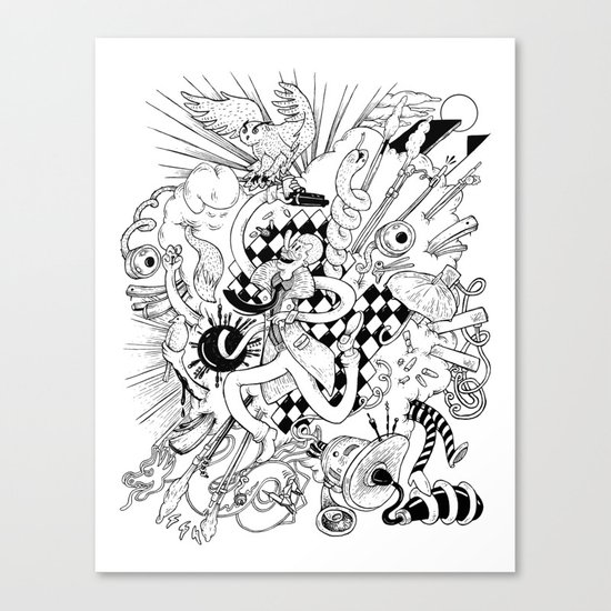 I've seen things (Black & White) Canvas Print