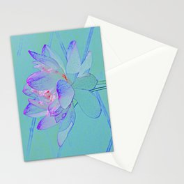 TURQUOISE LOTUS Stationery Cards