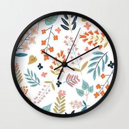 Botanical Harmony Wall Clock