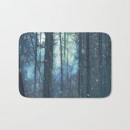 The Woods In Winter Bath Mat