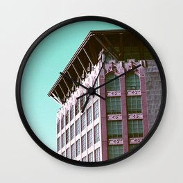 Building Side on Lomochrome Film Wall Clock