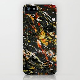 Jackson Pollock Interpretation 2017 iPhone Case