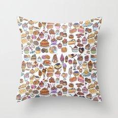 Dessert love #1 Throw Pillow