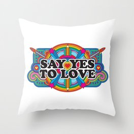 Say Yes To Love Throw Pillow