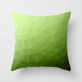 Greenery ombre gradient geometric mesh Throw Pillow