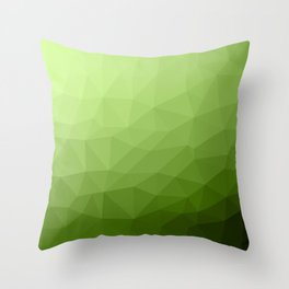 Greenery ombre gradient geometric mesh Throw Pillow