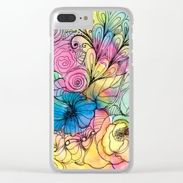 Magical Tangles Clear iPhone Case