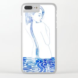 Water Nymph LXXV Clear iPhone Case