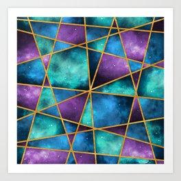 Space Abstract Geometric Art Print