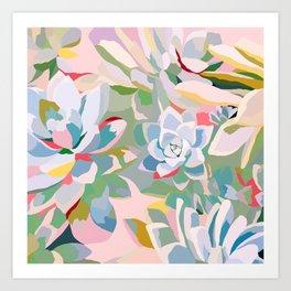 summer succulents Art Print