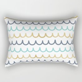 Golden Pastel Waves Rectangular Pillow