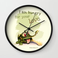 I am hungry for your love Wall Clock
