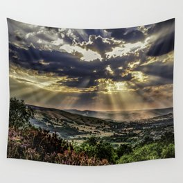 Landscape photograph of, Sunshine over Hope valley, Peak District, U.K. Wall Tapestry