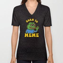 Born To Meme Unisex V-Neck