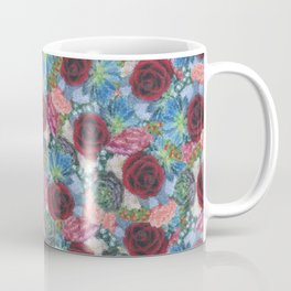 Garden Bouquet  through Stained Glass Coffee Mug