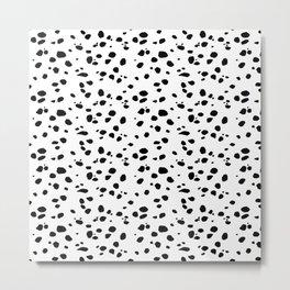 Dalmat-b&w-Animal print Metal Print