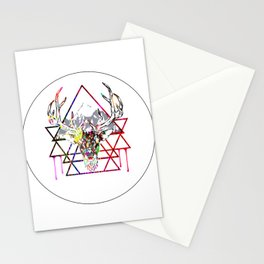 Stag Color Explosion Stationery Cards