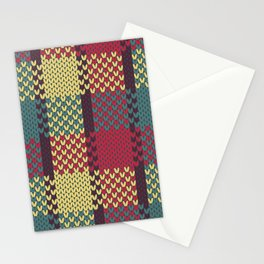 Faux Retro Gingham Stationery Cards