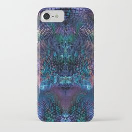 Violet snake skin pattern iPhone Case