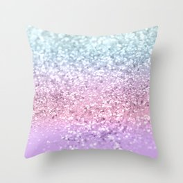 Unicorn Girls Glitter #4 #shiny #pastel #decor #art #society6 Throw Pillow