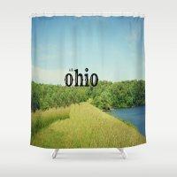 ohio Shower Curtains featuring Hello Ohio by KimberosePhotography