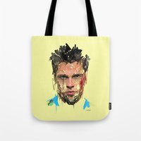 tyler spangler Tote Bags featuring Tyler by Marcello Castellani