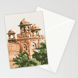 Red Fort in Delhi India Stationery Cards