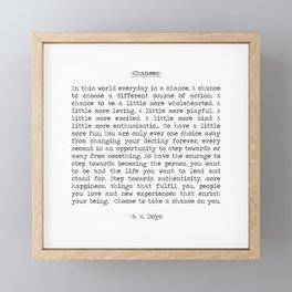 Chances Framed Mini Art Print