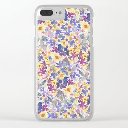 Lovely Little Wildflowers Clear iPhone Case