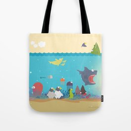 What's going on at the sea? Kids collection Tote Bag