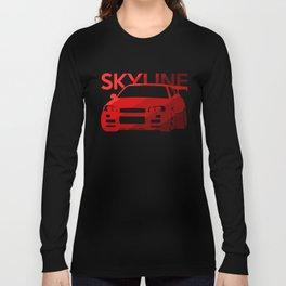 Nissan Skyline GT-R  - classic red - Long Sleeve T-shirt