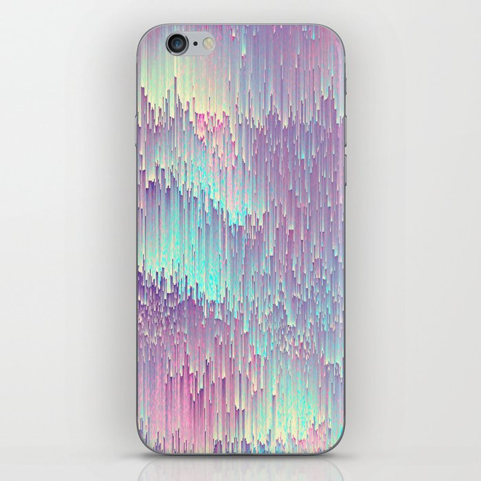 Iridescent Glitches iPhone Skin