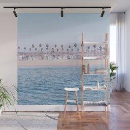 Vintage Newport Beach Print {3 of 4} | Photography Ocean Palm Trees Cool Blue Tropical Summer Sky Wall Mural