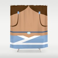 airbender Shower Curtains featuring Katara by Lindsay Isenhour