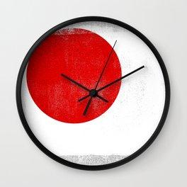 Japanese Distressed Halftone Denim Flag Wall Clock