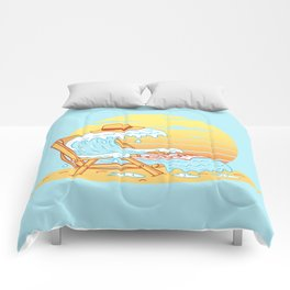 WAVE ON THE BEACH Comforters