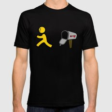 No Mail! MEDIUM Mens Fitted Tee Black