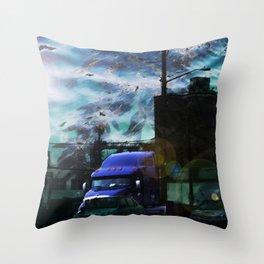Seaweed Trucking Throw Pillow
