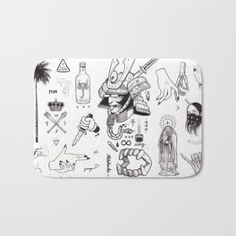B&W Flash Bath Mat
