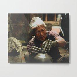 The Locals of Kathmandu City 002 Metal Print