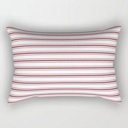 Dark Red Pear Mattress Ticking Wide Striped Pattern - Fall Fashion 2018 Rectangular Pillow