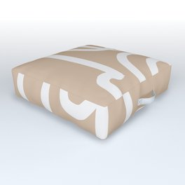 beige squiggle Outdoor Floor Cushion